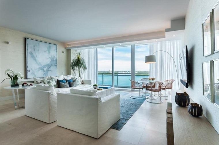 salones con encanto acentos azul 2id Interiors ideas