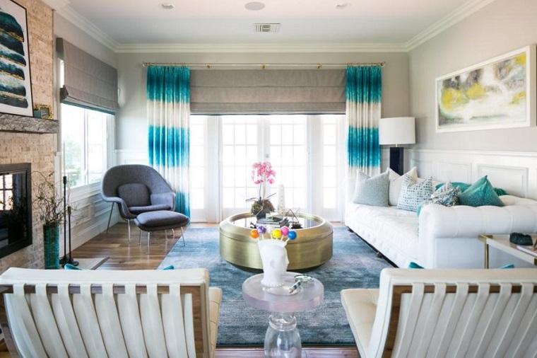 salones con encanto acentos brillantes Grace Blu Designs ideas