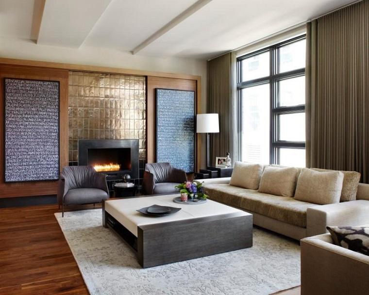 salones con encanto acentos metalicos Morgante Wilson Architects ideas