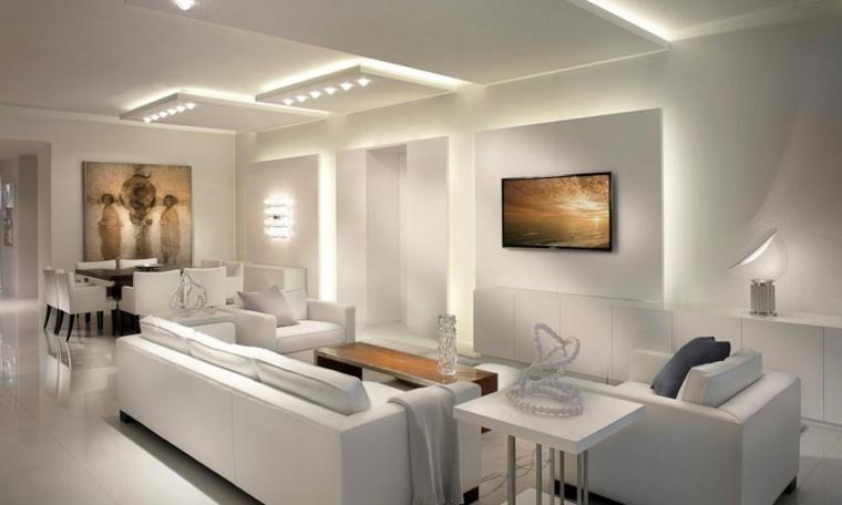 Salones con encanto y diseño al estilo contemporáneo -