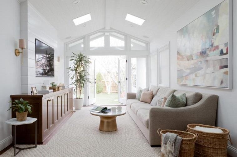 salones con encanto diseno blanco Jenn Feldman Designs ideas