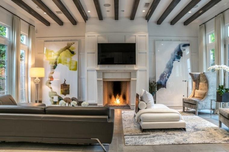 salones con encanto espacio chimenea Mirador Group ideas