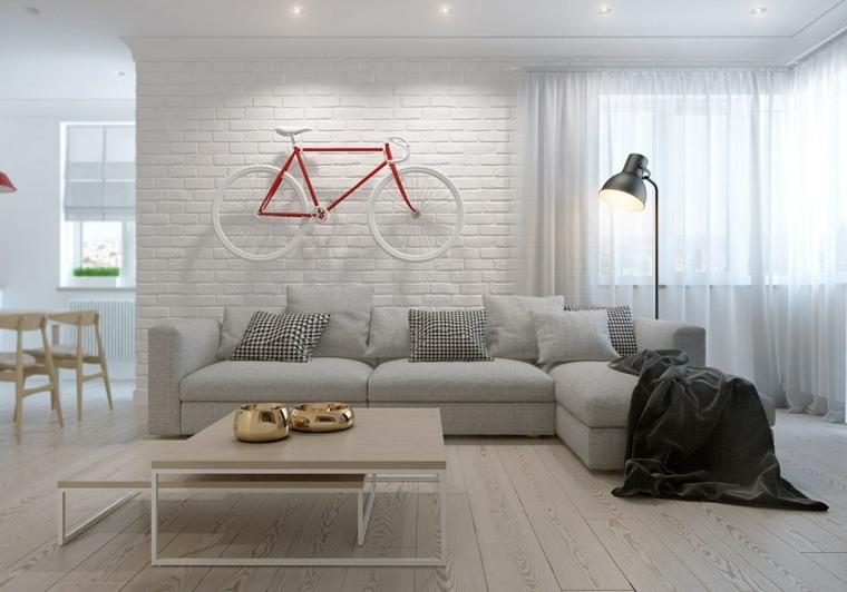 Estilo n rdico en la decoraci n del interior - Salones estilo nordico ...