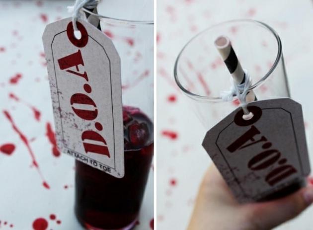 salpicando sangre artificial pajilla detalles
