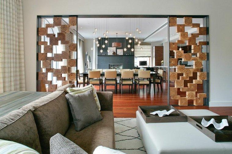 separadores ambientes habitaciones diseno madera diseno unico ideas