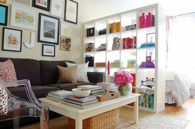 separadores ambientes habitaciones diseno mueble blanco ideas
