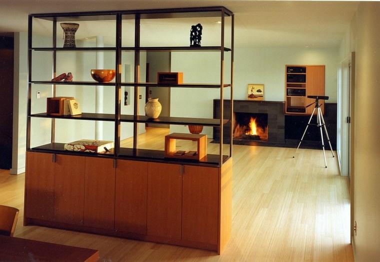 separadores ambientes habitaciones diseno mueble libros ideas