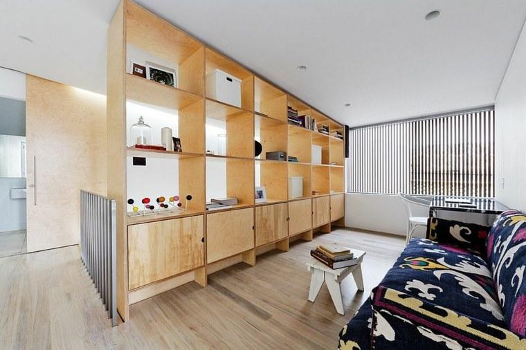 separadores ambientes habitaciones diseno mueble madera ideas