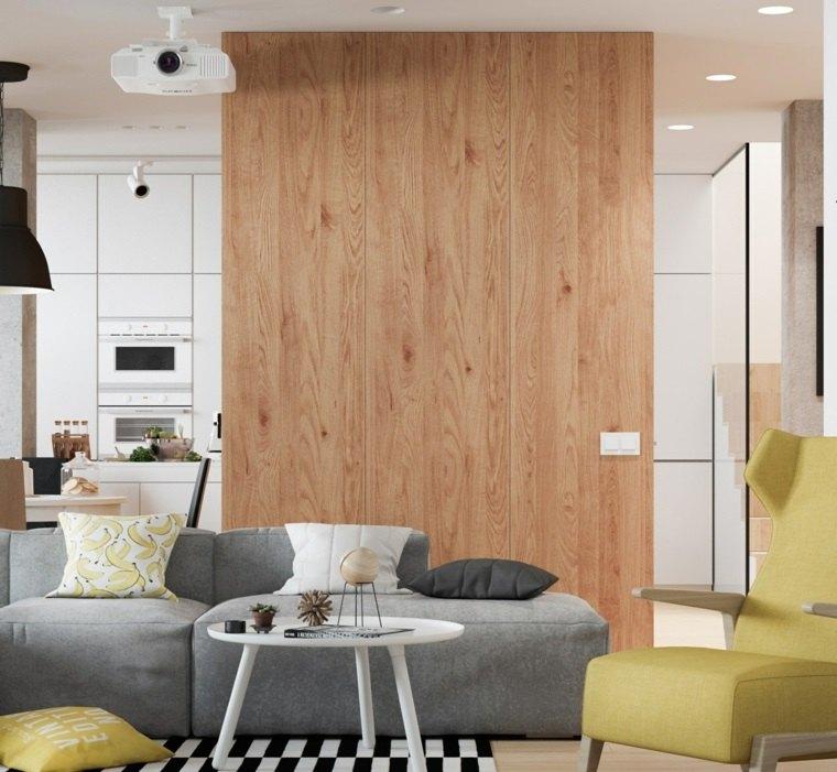 separadores ambientes habitaciones diseno pared madera ideas