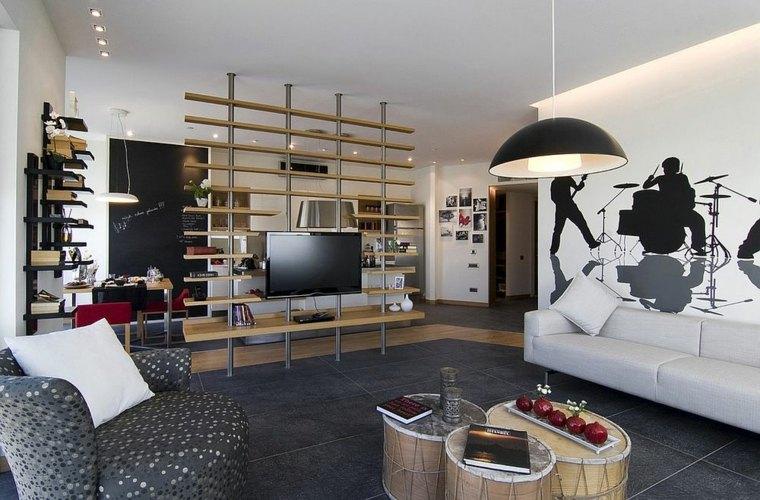 separadores ambientes habitaciones diseno plano abierto Neslihan Pekcan ideas