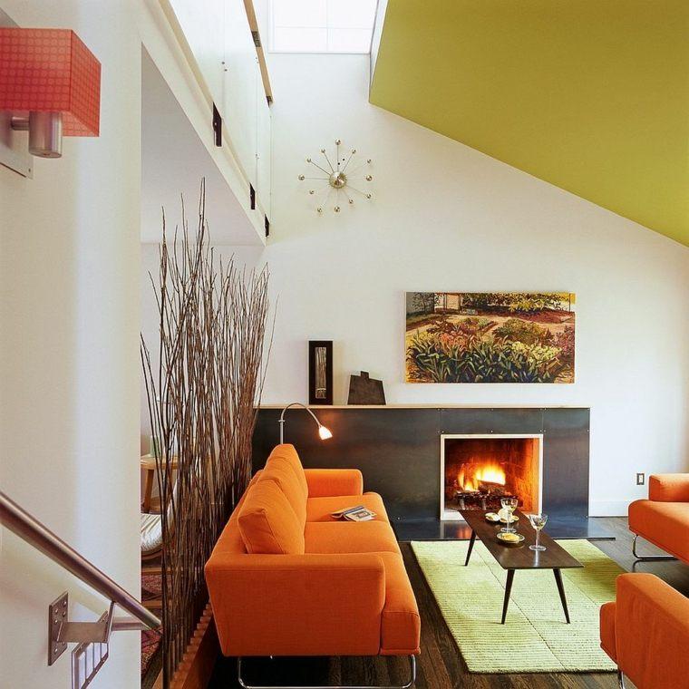 separadores ambientes habitaciones diseno ramas madera ideas