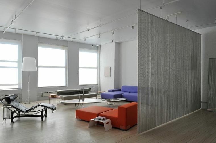 separadores ambientes habitaciones diseno salon contemporaneo ideas