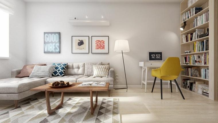 silla eames color amarillo estilo escandinavo
