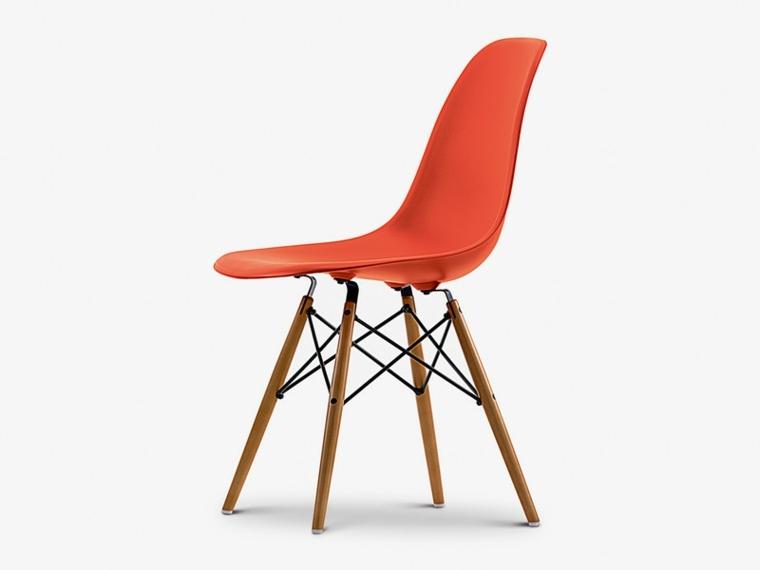silla eames color rojo vibrante