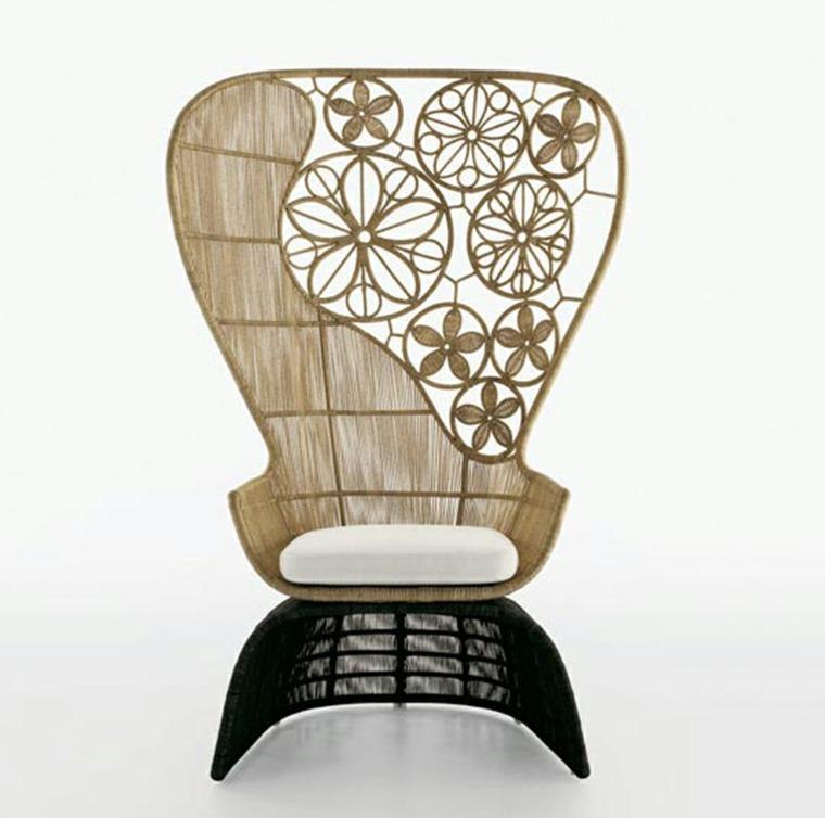 sillas con diseño azteca