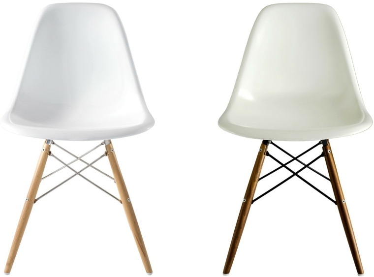 sillas eames blancas patas madera