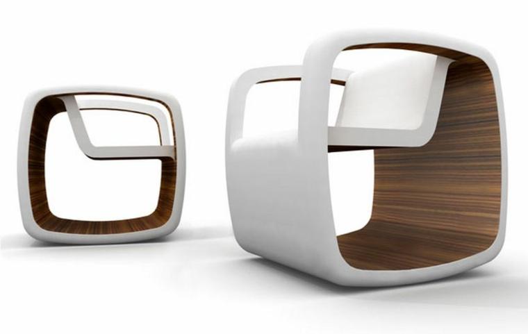 sillas modernas blanco