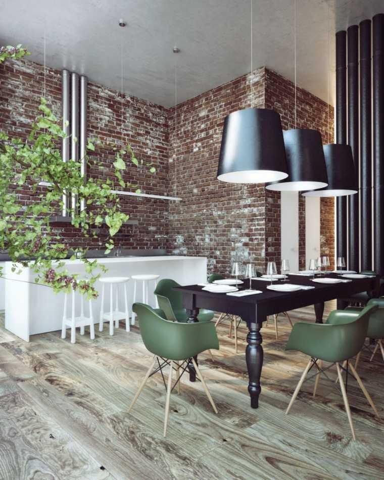 sillas Eames comedor eames verdes