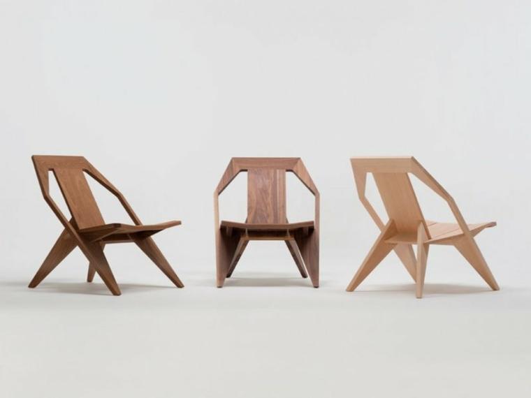 sillas madera formas originales