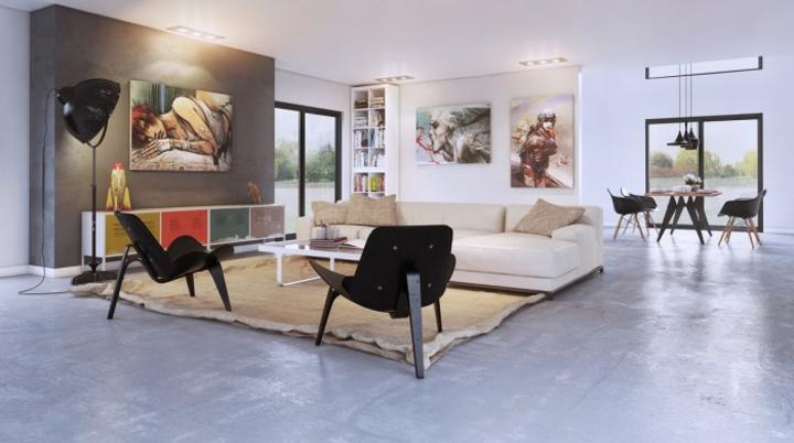 sillones amplios muebles color colorido