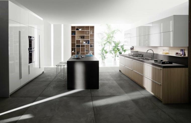 Color gris opciones inspiradoras para suelos y decorado - Cocina suelo gris ...