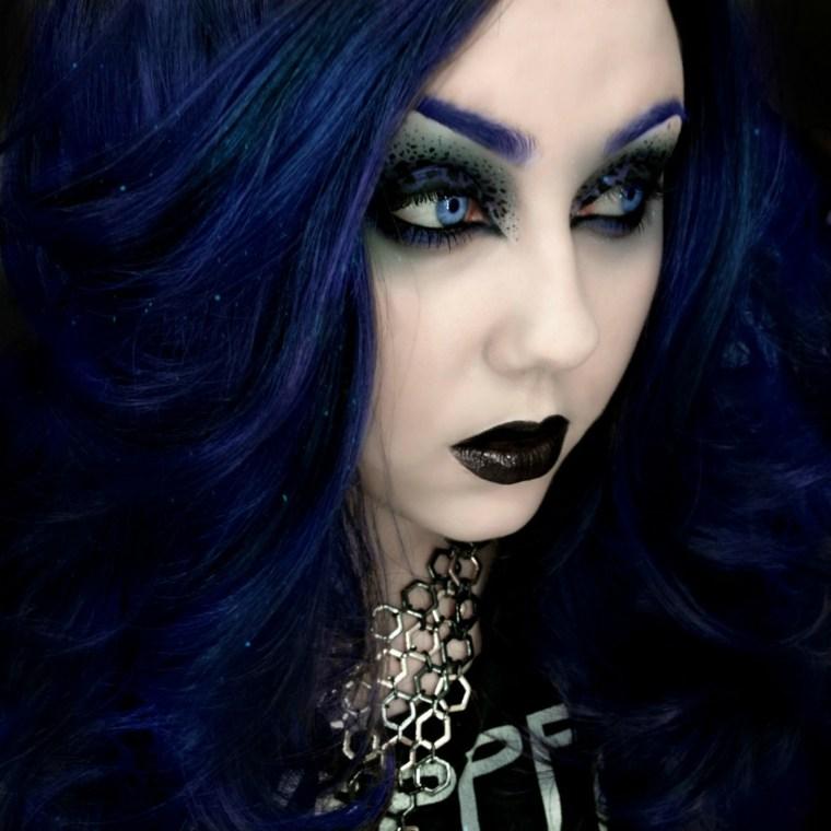 sombra de ojos negra halloween