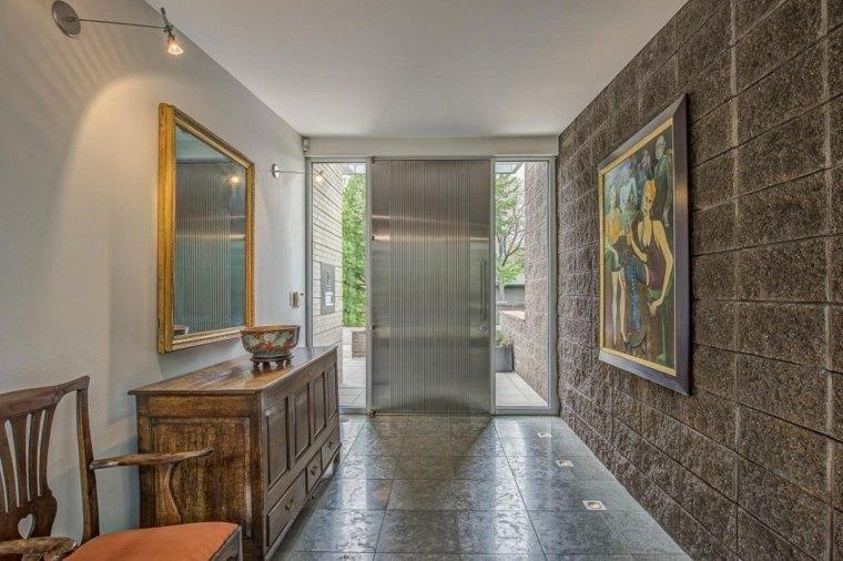 suelo radiante piedra entrada casa ideas