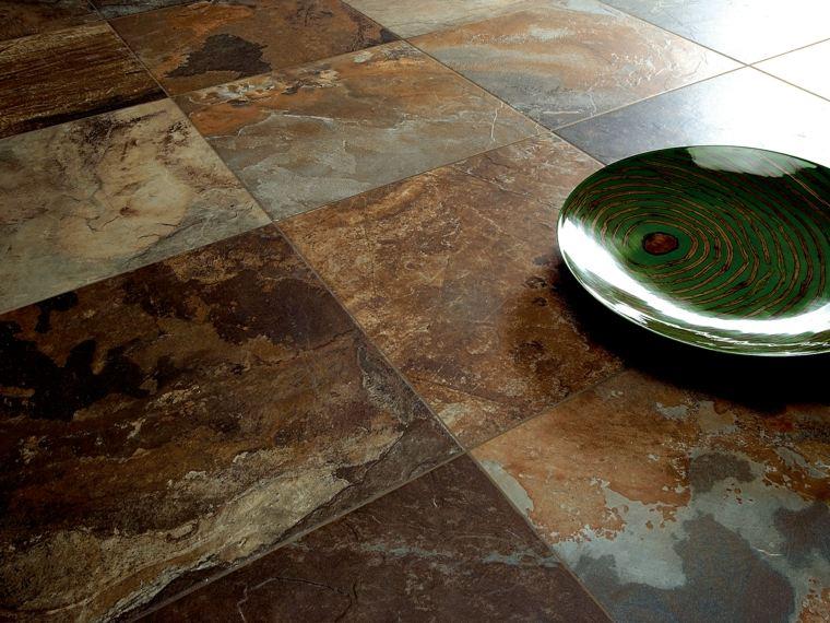 suelos pizzarra piedra color mezcla tonalidad ideas
