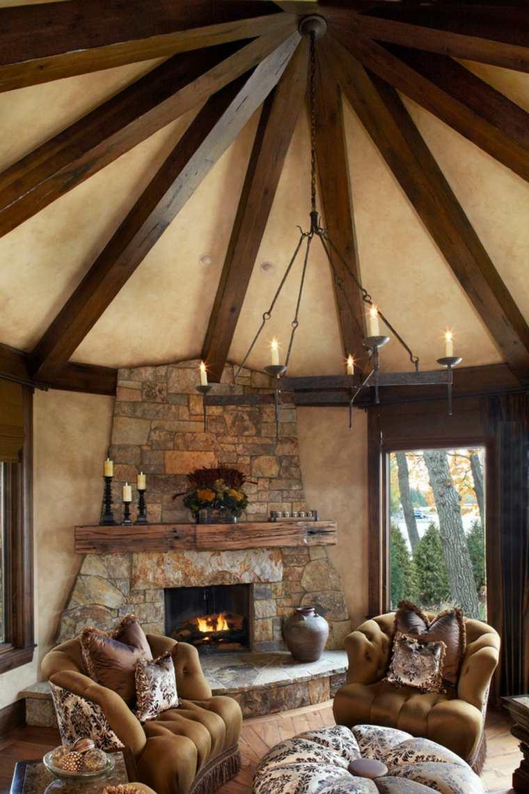 techo de madera clásico