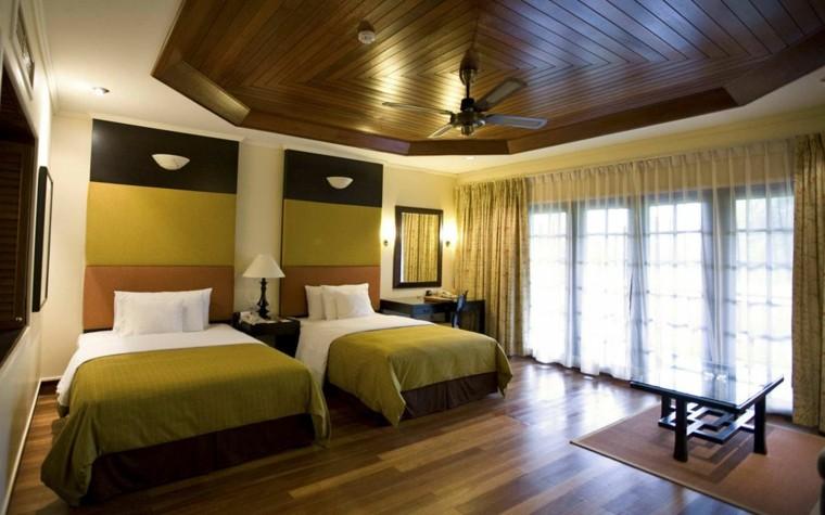 techo de madera dormitorio