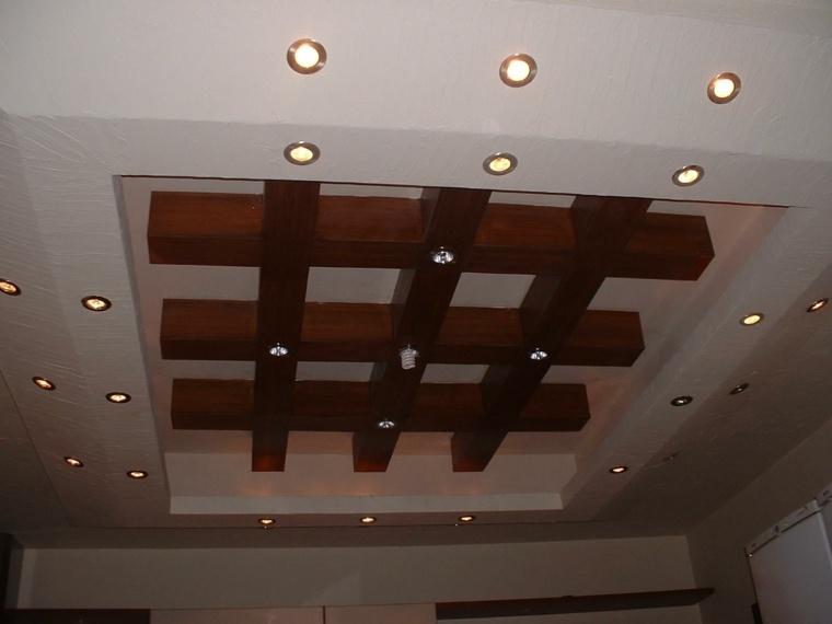 techo de madera rejilla