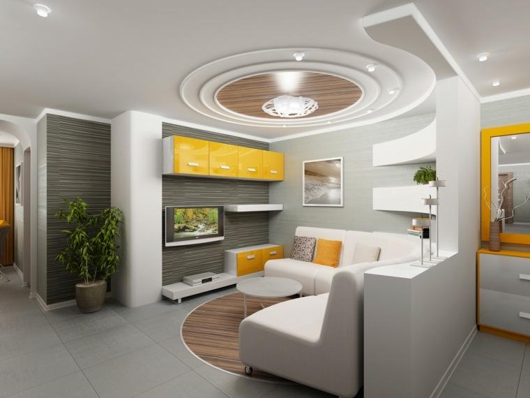 techo de madera sala de estar
