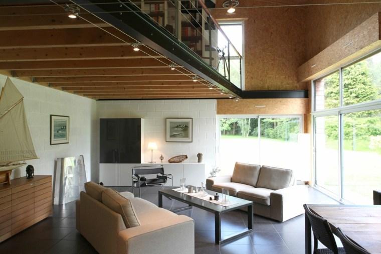 techo de madera salón