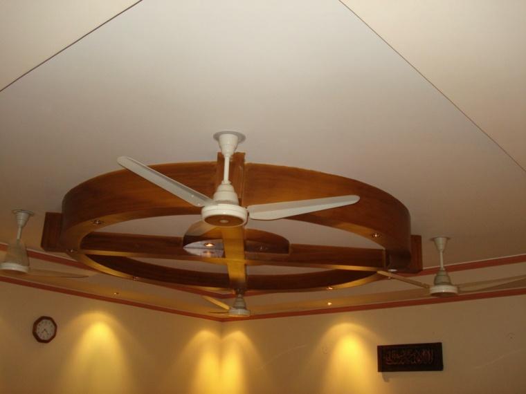 techo de madera ventilador