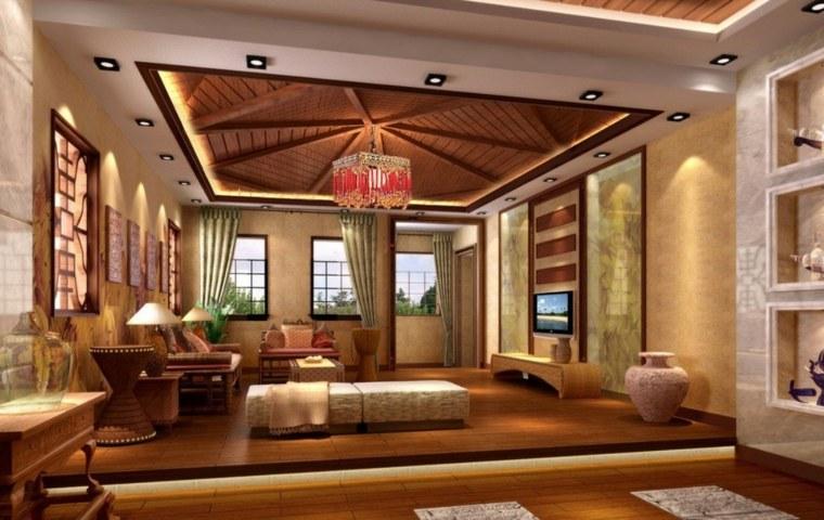 techo rústico salón
