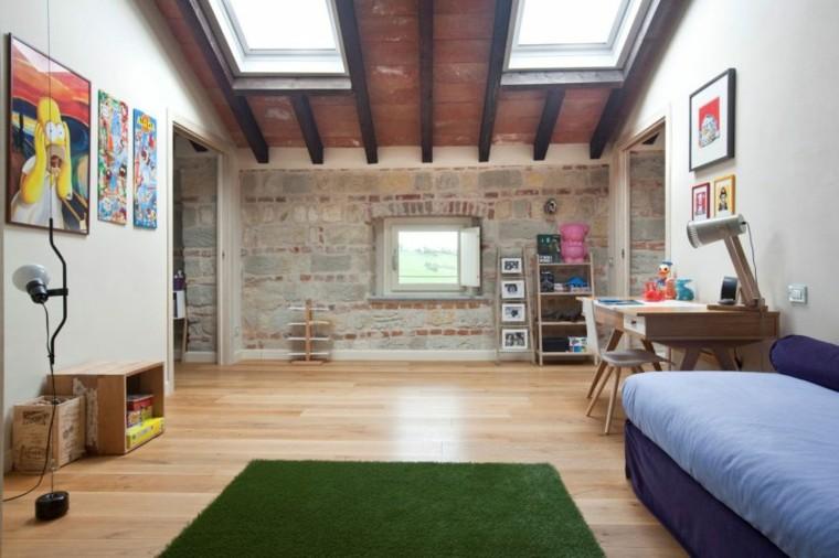techos de madera diseno interiores casa disenada Atre Studio Architetti dormitorio ideas