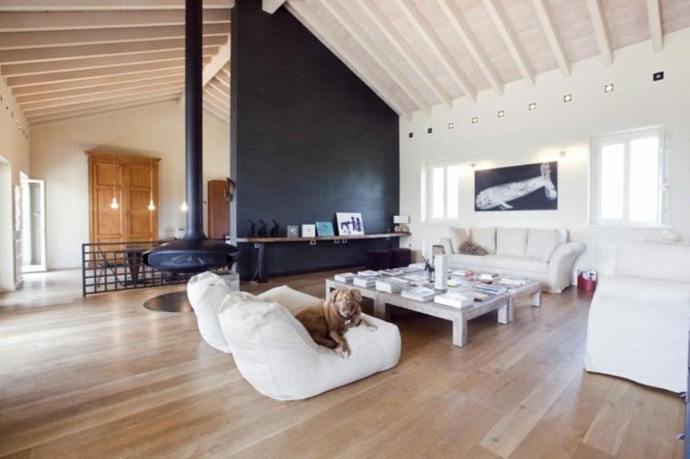 techos de madera diseno interiores casa disenada Atre Studio Architetti salon ideas
