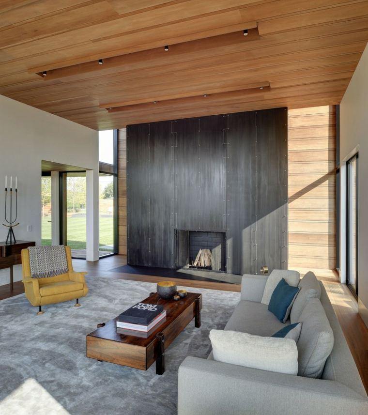 techos de madera diseno interiores casa disenada Bates Masi Architects ideas