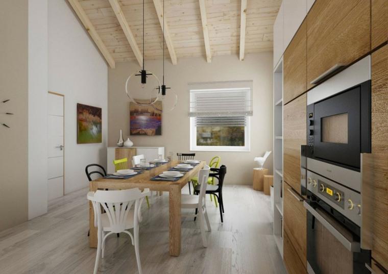 techos de madera diseno interiores casa disenada Design ATAK cocina