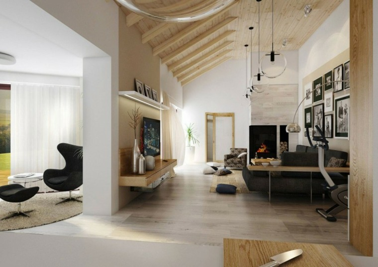 techos de madera diseno interiores casa disenada Design ATAK ideas