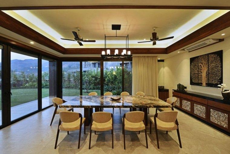 techos de madera diseno interiores casa disenada GA design comedor ideas
