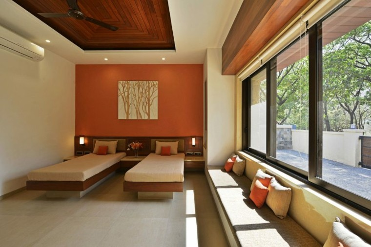 techos de madera diseno interiores casa disenada GA design dormitorio ideas