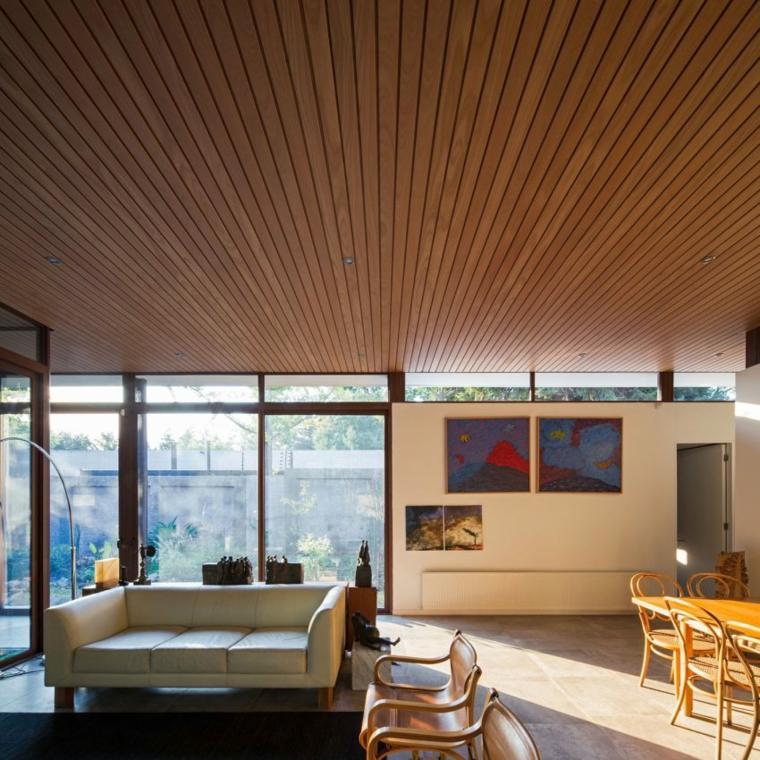 techos de madera diseno interiores casa disenada Iglesis Arquitectos chile ideas