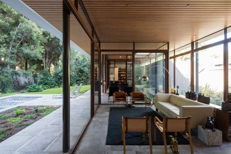 techos de madera diseno interiores casa disenada Iglesis Arquitectos ideas