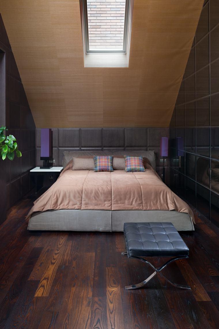 techos madera dormitorio diseno techo desvan ideas