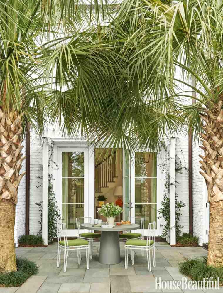 terraza bonita dos palmeras