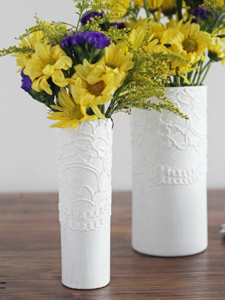 texturas vasos especiales muestras amarillo