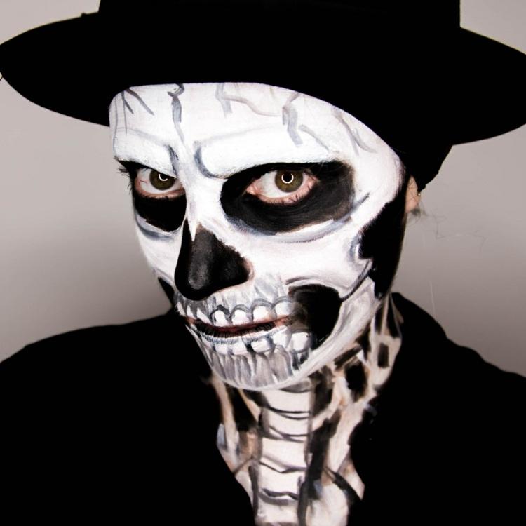 variacion esqueleto traje disfraz negro