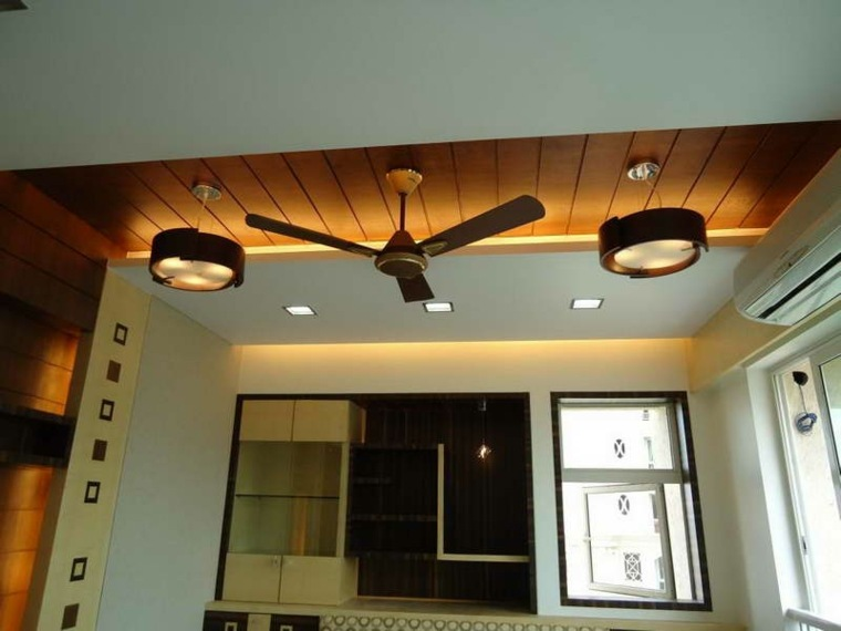 vigas de madera para techos lámparas