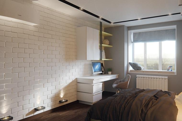 Andrew Repn pared azulejos blancos